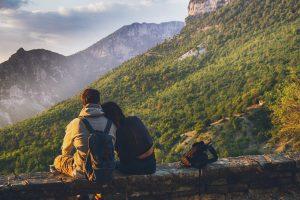 Par i bjergene